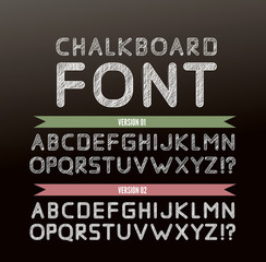 Chalk font in two variations