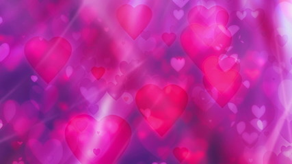 Hearts Love Pink and Red Looping Animated Background