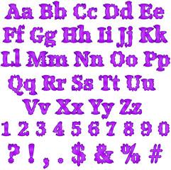 Crazy Purple Alphabet Letters