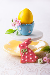Easter cookie and egg