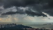singapore coast rain storm 4k time lapse from the roof top