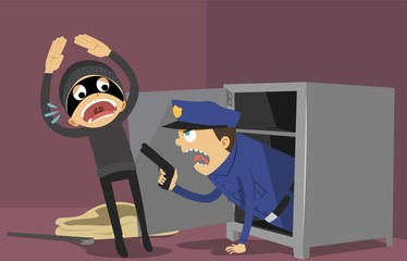 Thief and police