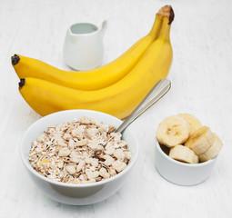 Banana and muesli