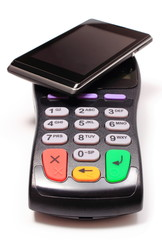 Payment terminal and mobile phone with NFC technology