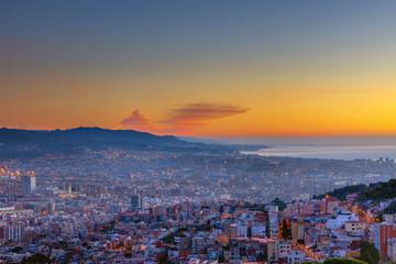 The Costa Brava north of Barcelona before sunrise