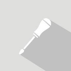Icono destornillador gris sombra