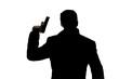 Man with gun silhouette - 77702057
