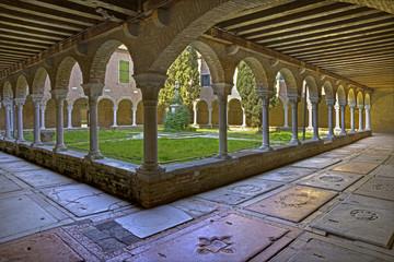 Venice - atrium of church San Francesco della Vigna