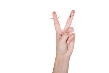 2 пальца