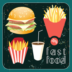 poster with food fast food