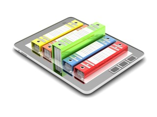 Tablet computer (documents folder)