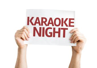 Karaoke Night card isolated on white background