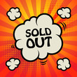 Comic explosion with text Sold Out, vector