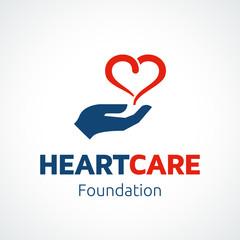 Heart in Hand Logo Template