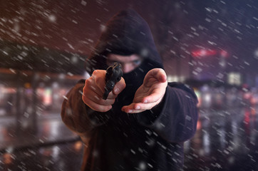 Überfall mit vorgehaltener Waffe
