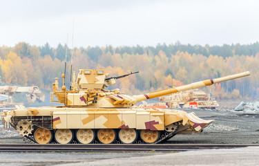 Modernized tank T-90s. Russia