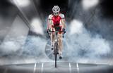 Fototapeta  - Sport. Cyclist has a traning in the wind tunnel © vitaliy_melnik