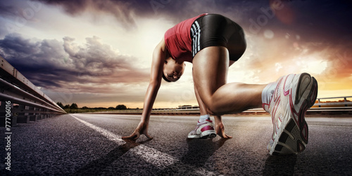 Poster Sport. Coureur.