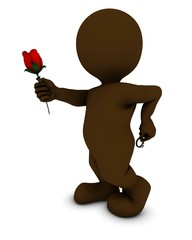 Morph man with rose and ring
