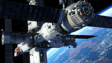 Spacecraft Docking To Space Station
