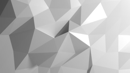 Abstract white low poly background