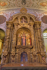 Seville - Side altar in baroque Church of El Salvador