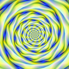 Vortex in Blue and Yellow