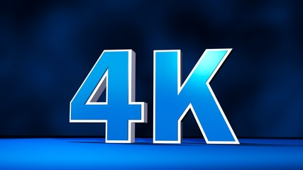 4K Ultra High Definition resolution three-dimensional text