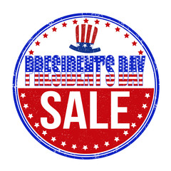 Presidents Day sale stamp
