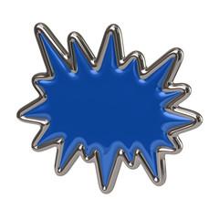 Blue bursting star icon