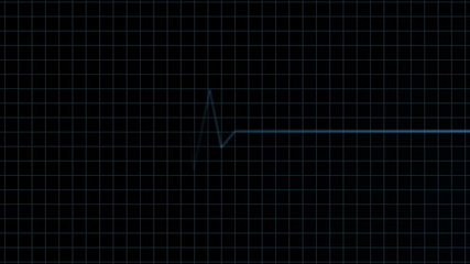 Seamless looping heart monitor animation