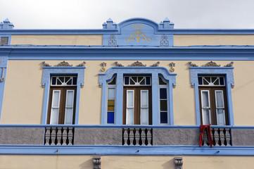 Fassade eines alten Hauses in Punta del Hidalgo