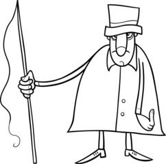 coachman character coloring page