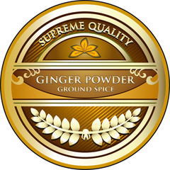 Ginger Powder Label
