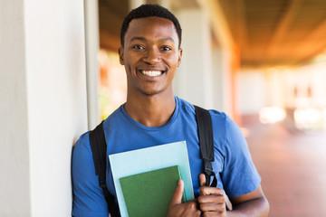african male university student portrait