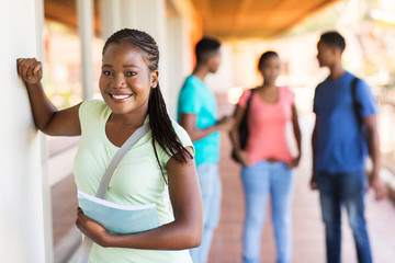 female african high school student