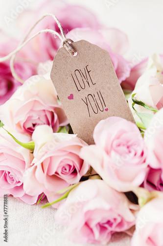 Papiers peints Roses Love you!