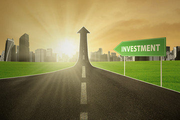 Highway with investment text
