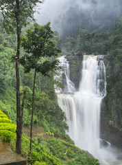 waterfall in Sri Lanka