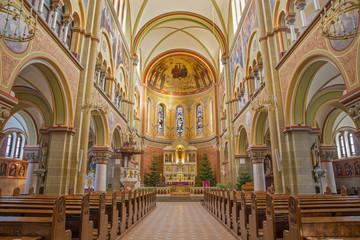 Vienna - The nave of Herz Jesu Kirche.