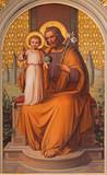 Vienna - st. Joseph paint in the church Muttergotteskirche - 77712292