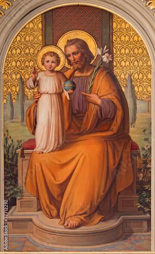 Foto op Plexiglas Wenen Vienna - st. Joseph paint in the church Muttergotteskirche