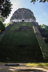 Postal Mayan ruins at Tikal, National Park. Traveling Guatemala.