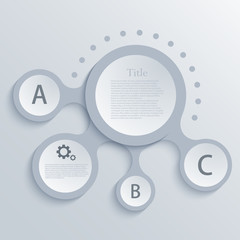 Vector modern circle infographic background