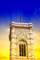 Beautiful view of the campanile in Florence