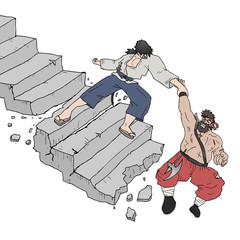 Help warrior stair