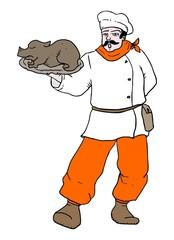 Chef vector draw