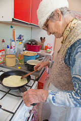 grandmother at cooking
