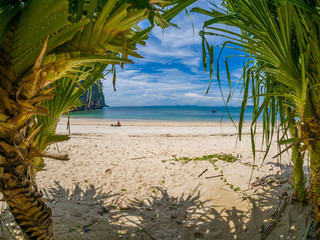 The railay tropical beach thailand
