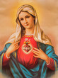 Leinwandbild Motiv The Heart of Virgin Mary - typical catholic image